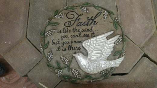 'Faith Is...' Stepping Stone